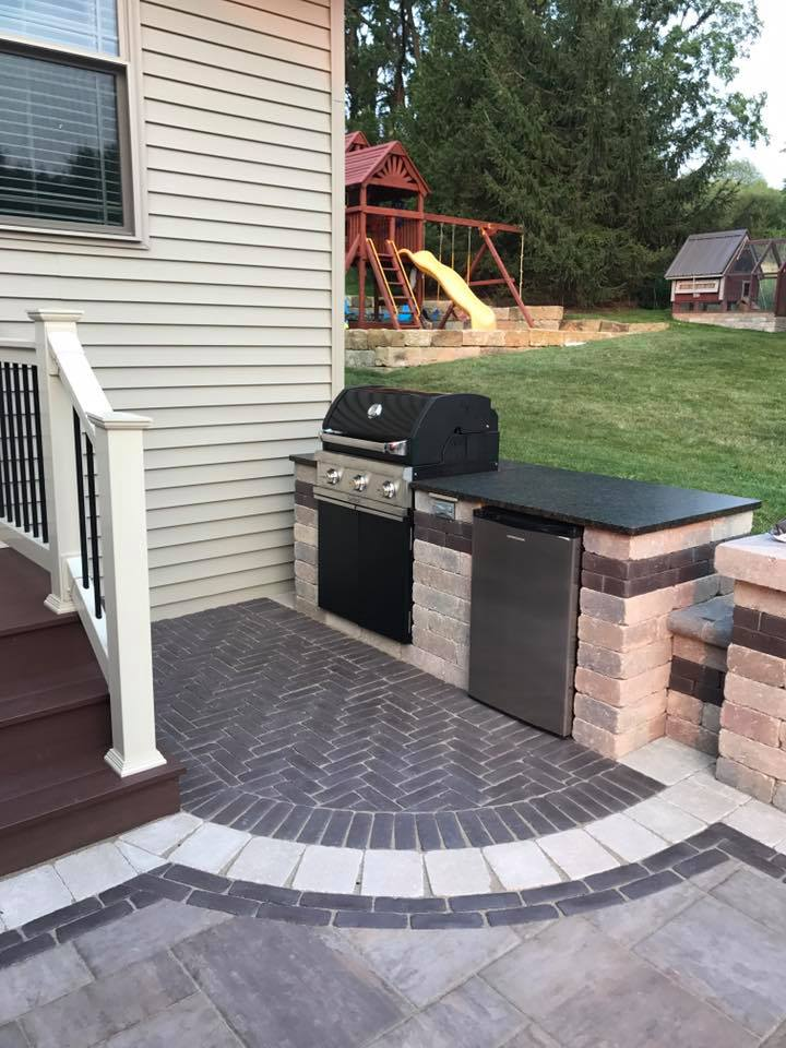Backyard Outdoor Kitchen Area