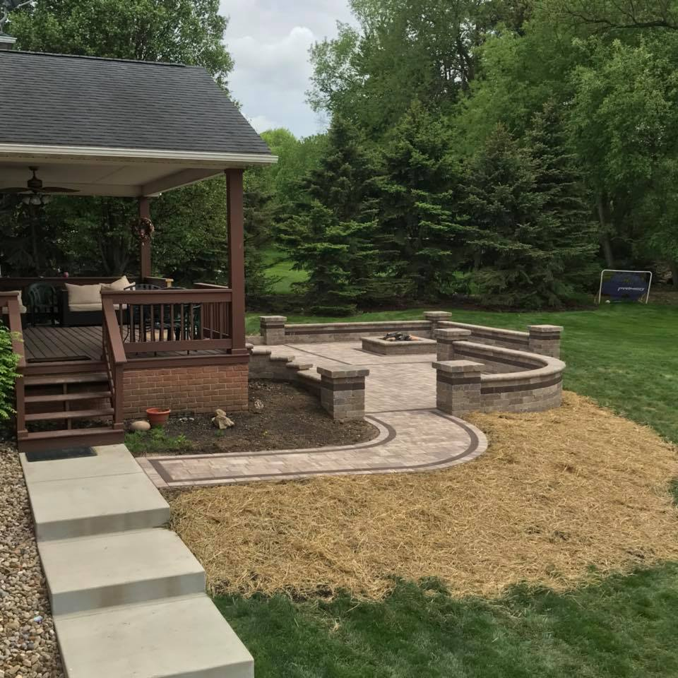 Firepit by Creative Hardscapes of Ohio