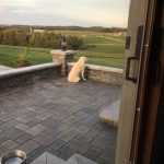 Hardscaping stone patio